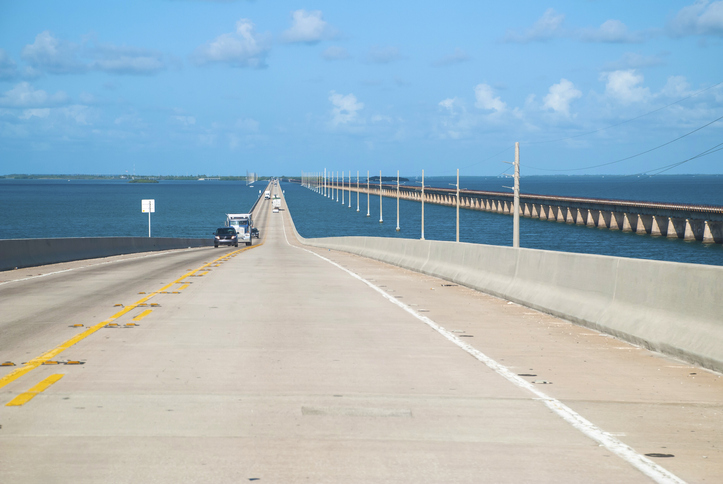 Key West 7 Mile Bridge Run Course